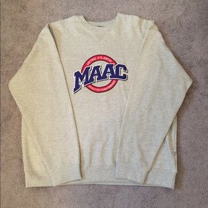 Aeropostale Crewneck Sweater MAAC Conference Gray